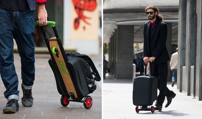 Skateboard Luggage Scooter